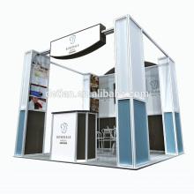 Detian bieten tragbare Messe Kiosk Stand Spannung Stoff Display mit Regalen