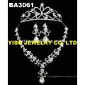 Горячий цветок сбывания и корона ожерелье 3pcs ювелирные изделия установки