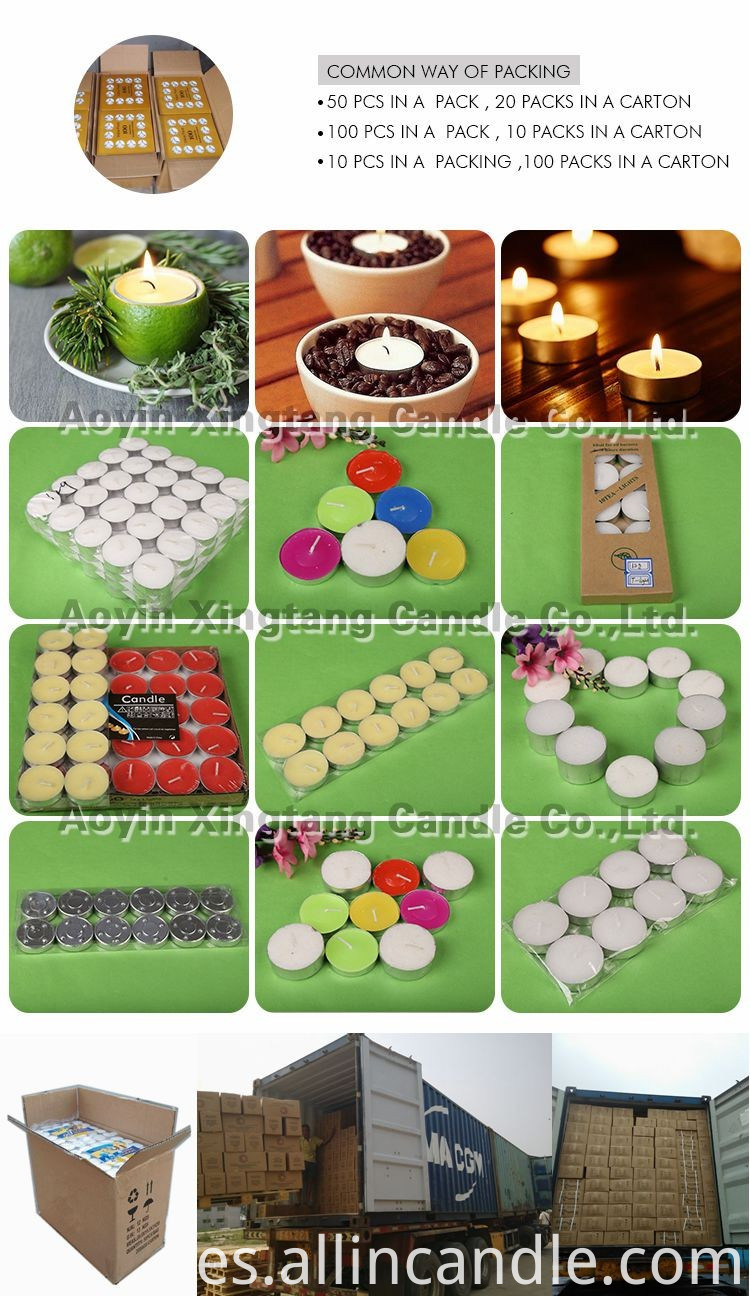 100pcs tealight candles package
