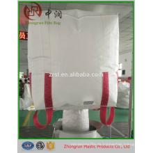 Bolsa a granel de 1 tonelada, bolsa grande de paneles U, bolsa virgen PP 100% nueva con forro de PE