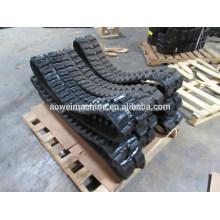 Bon prix pour les chenilles en caoutchouc de mini pelle Bobcat, 250 mm, 300 mm, 320 mm, 350 mm, 400 mm, piste et patins de liaison en caoutchouc pour mini-pelle