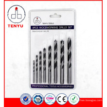 8PCS carbide drill bit set for wood with blister card