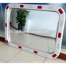 Miroir convexe de sécurité du trafic rectangulaire / miroir convexe réfléchissant