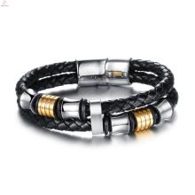2017 новая мода прохладный дешевые кожаный браслет для женщин