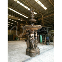 outdoor decoration copper garden water fountains bronze lady fountain