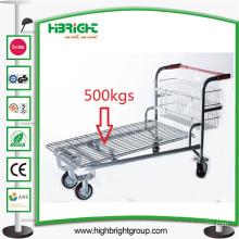 Metallic Heavy Duty Warehouse Platform Trolley