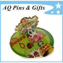 Low Cost Aço Inoxidável Offset Imprimir Brass Lapel Pin (badge-151)