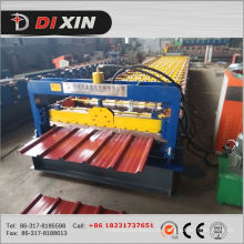 China Hersteller Dixin Farbe / verzinkt Stahldachblech Rollenformmaschine