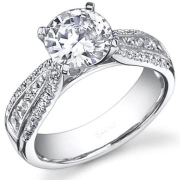 Anneau de fiançailles en bijoux en argent 925 avec zircon cubique blanc clair