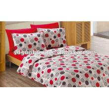 Alibaba China proveedor de textiles para el hogar diseño de bordado 133 * 72 tela reactiva 100% algodón 3d edredón de la boda establece juegos de cama