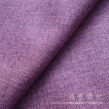 Oxford Linen Polyester Fabric with Knitted Backing