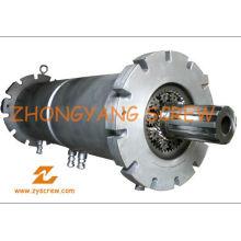 Barril de tornillo planetario Zy156 para la maquinaria de extrusión que sopla