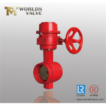 Red Colour Grooved Wafer Butterfly Valve