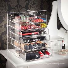 Hot Sale Acrylic Clear Four Layer Cosmetic Organizer Display