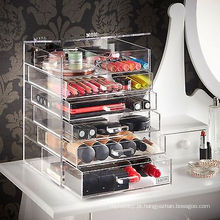 Hot Sale Acrílico Clear Four Layer Cosmetic Organizer Display