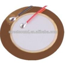 Mais vendido elemento de zumbador piezo 4.6khz 27mm piezo cerâmica disco manfacturer
