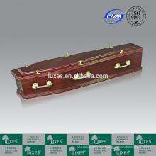 Скидка шкатулки онлайн люкса бумаги Sapele шпона гробы A30-GHT