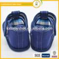 2015 exclusivo novo design de moda artesanal sofisticado promoções denim sandálias de bebê para menino