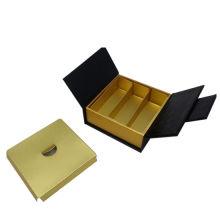 Caja de regalo de lujo personalizada impresa de oro del recuerdo del logotipo