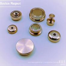 D36 Support de pot magnétique creux en néodyme profond