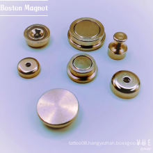 Rare Earth Pot Magnet with female thread
