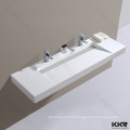 Wholesale italian design solid surface wall hung bathroom wash basins