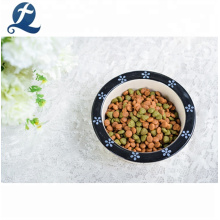 Vente en gros de couleur mignonne d'impression glacis bol en céramique pour chien / chat