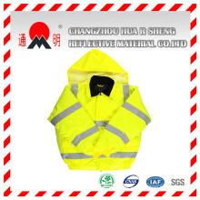 Gilet réfléchissant jaune-vert avec bandes réfléchissantes de haute visibilité (vest-3)