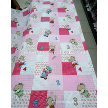 Alta qualidade de 100% tecido de algodão / pigmento impresso tecido lençol
