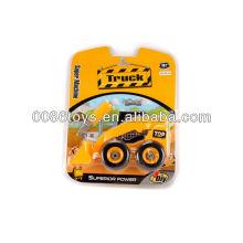 22.5cm bulldozers amarillo libre rueda DIY juguetes, juguetes educativos