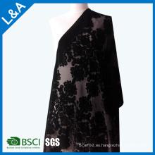 Classic Burnt-out velvet bufandas chales fábrica personalizada