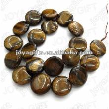 Los granos de piedra de la moneda del tigereye de los 20MM