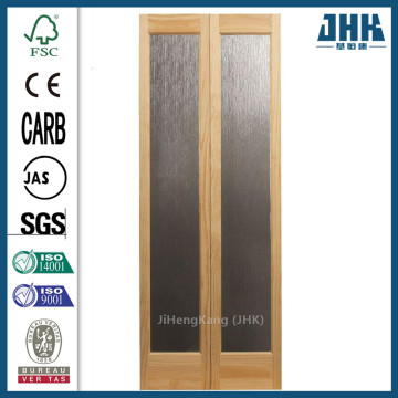 JHK Classic French Opaque Glass/Wood Interior Bi-fold Door