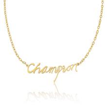 Чемпионат Мода Золото Ожерелье Женщины Персонализированные Имя Ожерелье