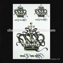 OEM gros impériale couronne tatouage tatouage tatouage tatouage bras tatouage pour femme W-1090