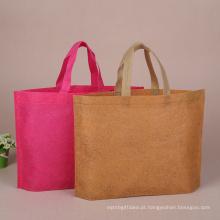 Saco de compras reciclável personalizado barato relativo à promoção não tecido