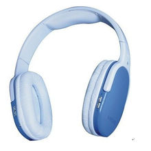 Customized Blue Tf Card Wireless Headphone With High Capacity Lithium Battery