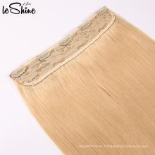 Two Tone Ombre Color Quality Virgin Human Hair Clip In One Piece Hair Extensions
