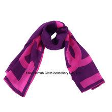 Bufanda impresa de poliéster de venta caliente con bufanda de color brillante