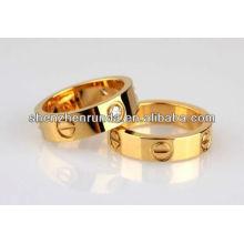 Новейшие позолоченные кольца для пары