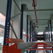 Automatic system of shuttle pallet rack