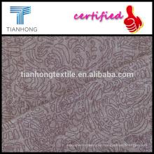 hilados de mezcla de tencel algodón teñido de tela de la impresión del spandex con buen estiramiento Gata para pantalón slim