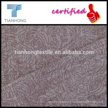 fils de mélange de tencel coton spandex tissu impression avec bon étirement slub pour pantalon slim teinté