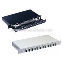 Миниатюрная волоконно-оптическая патч-панель FTTH, монтажная панель типа выдвижного ящика для монтажа в стойку, панель с оптическим волокном и разъемом SC