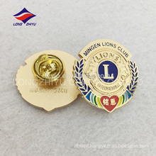 Cheap zinc alloy soft enamel gold plating pin