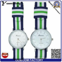 Yxl-548 Fashion Men Women′s Couple Nylon Band Analog Quartz Wrist Watch