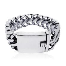 Classic Punk Style ID Bracelets Stainless Jewelry Distorsión gratis para hombres