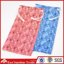 Bolso pequeño de la impresión del logotipo de encargo, bolso de las gafas de sol de Microfiber, bolsa suave de las lentes