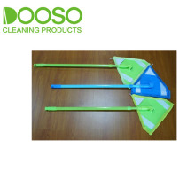 Plastic Cover Pole Microfiber Easy Cleaning Flat Mop