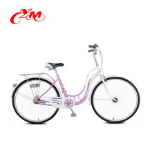 """26 """"Aluminium Lady Fahrrad für Vintage-Stil, billige Stadt Fahrrad mit Korb für Frauen"""